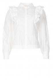 Magali Pascal |  Ruffle blouse Jacky | white  | Picture 1