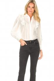 Magali Pascal |  Ruffle blouse Jacky | white  | Picture 4