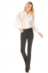 Magali Pascal |  Ruffle blouse Jacky | white  | Picture 3