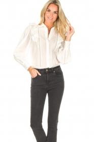 Magali Pascal |  Ruffle blouse Jacky | white  | Picture 2