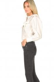 Magali Pascal |  Ruffle blouse Jacky | white  | Picture 5