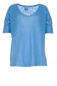 Blaumax | Linen T-shirt Nora | blue  | Picture 1