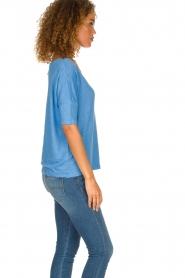 Blaumax | Linen T-shirt Nora | blue  | Picture 3