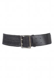 Magali Pascal |  Herringbone belt Laurena | black  | Picture 1
