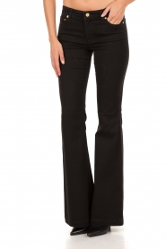 MICHAEL Michael Kors | Flared jeans Selma lengtemaat 34 | zwart  | Afbeelding 2