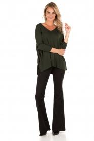 MICHAEL Michael Kors | Flared jeans Selma lengtemaat 34 | zwart  | Afbeelding 3