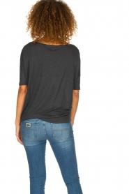 BLAUMAX | Linen T-shirt Nora | grey  | Picture 4