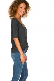 BLAUMAX | Linen T-shirt Nora | grey  | Picture 3