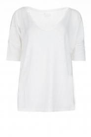 BLAUMAX | Linen top Nora | white  | Picture 1