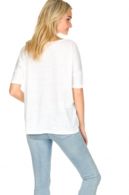 BLAUMAX | Linen top Nora | white  | Picture 4