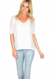 BLAUMAX | Linen top Nora | white  | Picture 2
