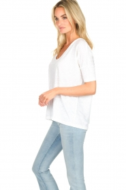 BLAUMAX | Linen top Nora | white  | Picture 3