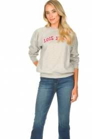 Lois Jeans |  Logo sweater Iris | grey  | Picture 5