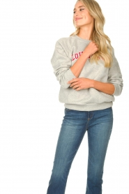 Lois Jeans |  Logo sweater Iris | grey  | Picture 4