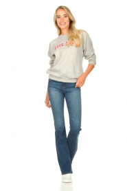 Lois Jeans |  Logo sweater Iris | grey  | Picture 3