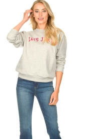 Lois Jeans |  Logo sweater Iris | grey  | Picture 2