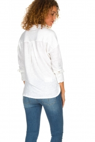 BLAUMAX | Linen Blouse Maddy | white  | Picture 5