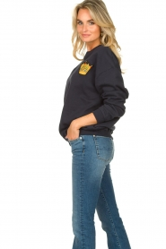 Lois Jeans |  Sweater with patch Roy | blue  | Picture 5