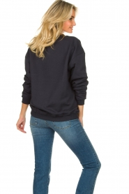 Lois Jeans |  Sweater with patch Roy | blue  | Picture 6