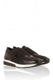 MICHAEL Michael Kors | Leren sneakers Lux | zwart  | Afbeelding 3