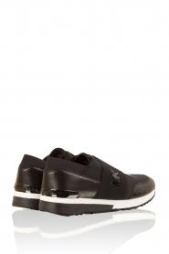 MICHAEL Michael Kors | Leren sneakers Lux | zwart  | Afbeelding 4
