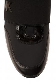 MICHAEL Michael Kors | Leren sneakers Lux | zwart  | Afbeelding 5
