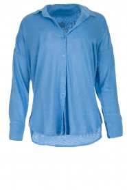 Blaumax | Linen blouse Maddy | blue  | Picture 1