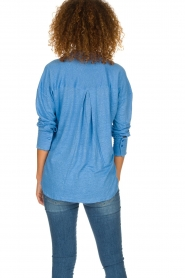 BLAUMAX | Linen blouse Maddy | blue  | Picture 4