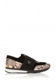 MICHAEL Michael Kors | Leren sneakers Lux | zwart/slangerprint  | Afbeelding 1