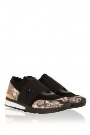 MICHAEL Michael Kors | Leren sneakers Lux | zwart/slangerprint  | Afbeelding 3