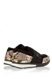 MICHAEL Michael Kors | Leren sneakers Lux | zwart/slangerprint  | Afbeelding 4