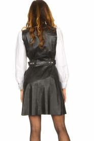Ibana |  Leather dress Dalies | black  | Picture 6