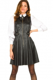 Ibana |  Leather dress Dalies | black  | Picture 2