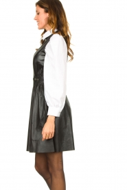 Ibana |  Leather dress Dalies | black  | Picture 5