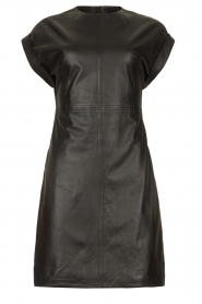 Ibana |  Leather dress Deborah | black   | Picture 1