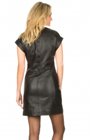Ibana |  Leather dress Deborah | black   | Picture 6