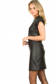 Ibana |  Leather dress Deborah | black   | Picture 5