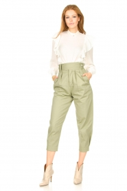 Magali Pascal    Pleated pants Gurka   green    Picture 3