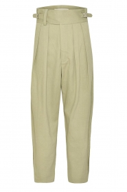 Magali Pascal    Pleated pants Gurka   green    Picture 1