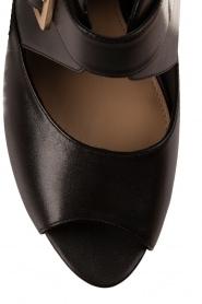 MICHAEL Michael Kors | Leren platform sandalen Eleni | zwart  | Afbeelding 5