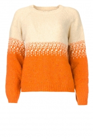 Blaumax |  Sweater with ombre Largatha | orange  | Picture 1