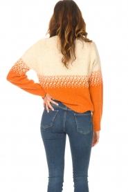 Blaumax |  Sweater with ombre Largatha | orange  | Picture 6