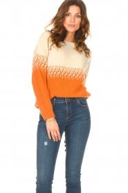Blaumax |  Sweater with ombre Largatha | orange  | Picture 2
