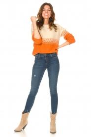 Blaumax |  Sweater with ombre Largatha | orange  | Picture 3