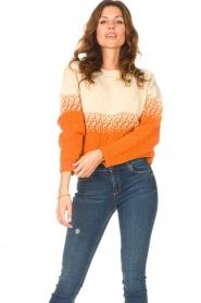 Blaumax |  Sweater with ombre Largatha | orange  | Picture 4
