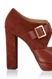 MICHAEL Michael Kors | Leren platform sandalen Eleni | roodbruin  | Afbeelding 6