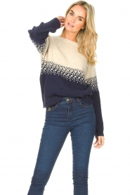 Blaumax |  Sweater with ombre Largatha | blue  | Picture 2