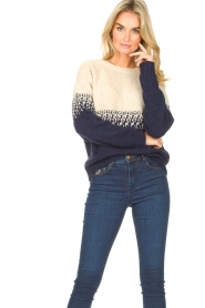 Blaumax |  Sweater with ombre Largatha | blue  | Picture 5
