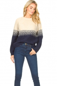 Blaumax |  Sweater with ombre Largatha | blue  | Picture 4