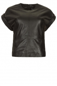 Ibana |  Leather top Tana | black  | Picture 1